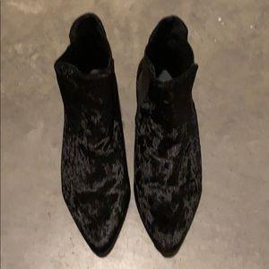 Topshop velvet booties